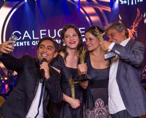 Sergio Freire estuvo a cargo del backstage de la ceremonia.